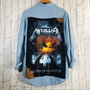 Custom METALLICA Obey Western Button Down Shirt